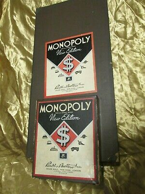 Very Rare Vintage 1936 Monopoly Game New Edition BROWN BOX Complete with Board