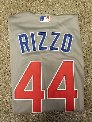 Anthony Rizzo Chicago Cubs Majestic Flex Base Auth. Jersey Sz-44 2016 WS Champs