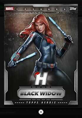 Topps MARVEL COLLECT DIGITAL Card Trader JUNE VIP 2019 HEROIC BLACK WIDOW INSERT