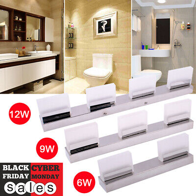 Modern Bathroom Vanity LED Light Crystal Front Mirror Toilet Wall Lamp Fixture