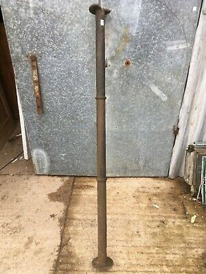 Reclaimed 6' Tall Victorian Cast Iron Round Post Support Column Prop