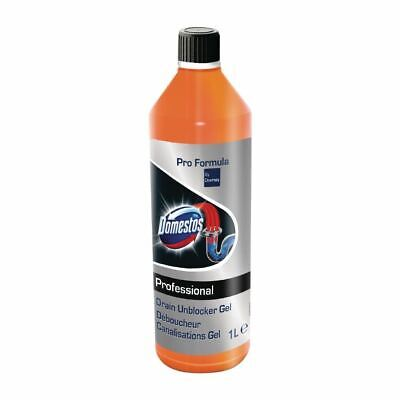 Domestos Pro Formula Drain Unblock Gel Ready To Use - 1L - Pack of 6