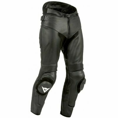Dainese SF Leather Motorcycle Jeans Black Size 58