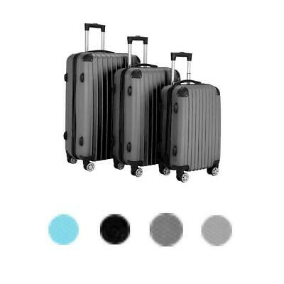 Hardside 3 Piece Nested Spinner Suitcase Travel Luggage Set w/TSA Lock 4 Colors