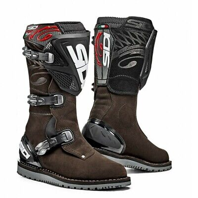 Sidi Trials Zero Motorcycle Boots Brown Size 46