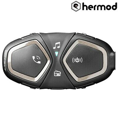 Interphone Connect Bluetooth Motorcycle Communication Helmet Kit - Single