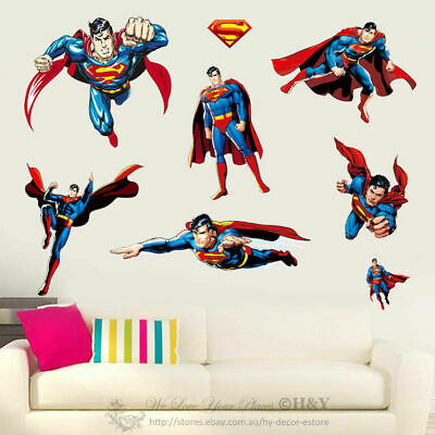Super Hero Wall Stickers Removable Kid Art Nursery Vinyl Decal Decor Mural Gift