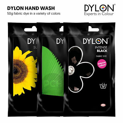 50g DYLON FABRIC CLOTHES HAND WASH DYE COLOR CHANGING 24-COLORS TO CHOOSE