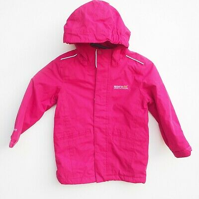 Fab REGATTA Girls WP Hooded / Quilted Outdoor Activity Jacket/Coat - age 3-4 yrs