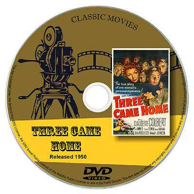 Three Came Home 1950 DVD Film Claudette Colbert, Patric Knowles - Drama, War