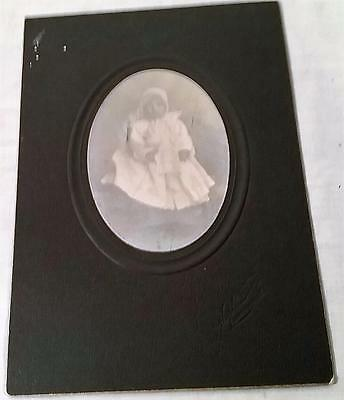 Antique Victorian Era Baby Photograph On Embossed Matte