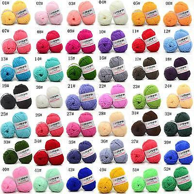 CHIC 42 colors Soft Cotton Bamboo Crochet Knitting Yarn Baby Knit Wool Yarn Y11