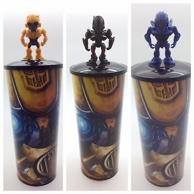 BRAND NEW BUMBLEBEE Movie 44oz Theater Cup Character Topper, Lid, Straw Cinemark