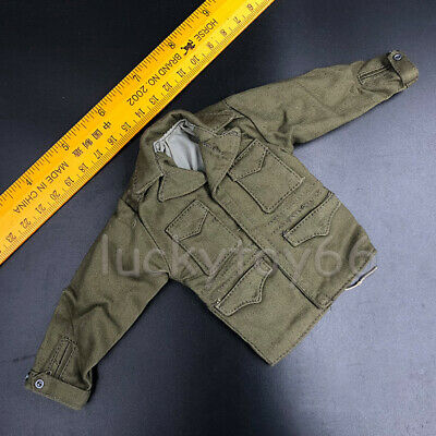 """WWII 1/6 Scale US Army Jacket Tops Windbreaker Clothes Fit 12"""" Action Figure"""