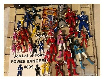 Job Lot of Mixed Power Rangers Action Figures + More (32 x Toys) All Used #899