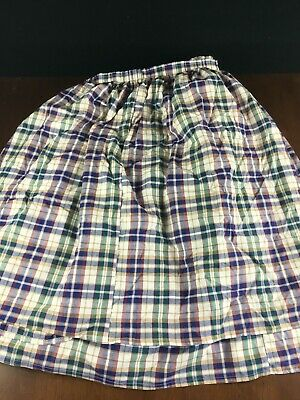 Longaberger Large Table Skirt Woven Tradition Plaid w Clips