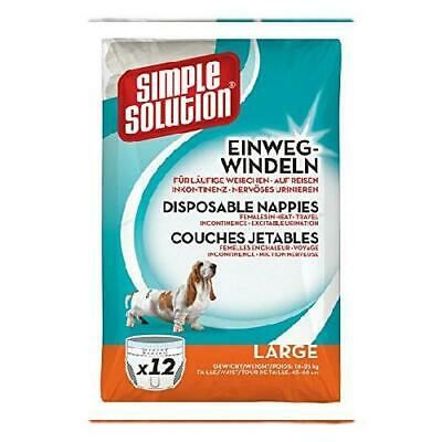 Simple Solution 03 Couche Jetable pour Chien Grand