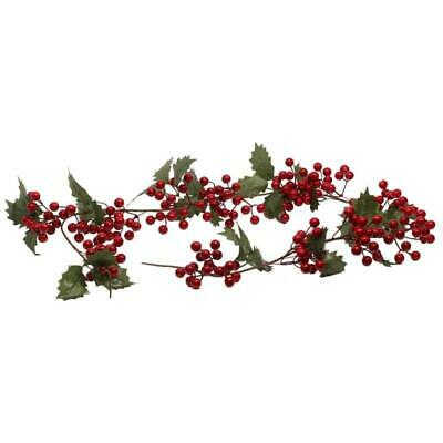 Artificial 140cm Holly Red Berry Berries Garland Christmas Xmas Table Decoration
