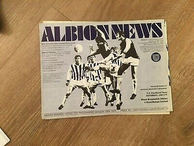 West Bromwich Albion V Scunthorpe United  - Fac 3Rd Round - 2/1/1971