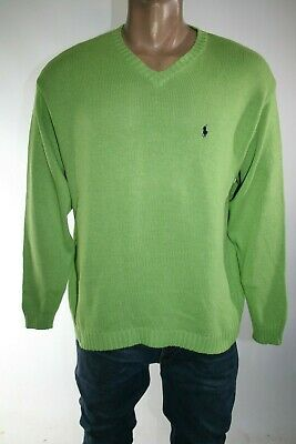 Polo By Ralph Lauren Maglione Uomo Tg. Xl Man Casual Vintage Sweater L111