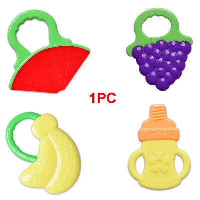 Baby Teether Fruit Shape Infant Silicone Pacifier Teething Nursing Toy BPA-free