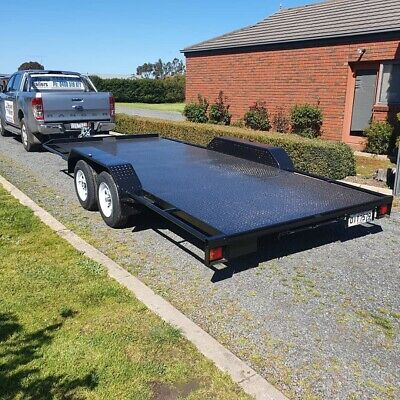 "Car Trailer, Australian Made, 12'x6'6"" Tandem Car Trailer, New, Hower Trailers"