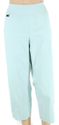 Alfani Women's Plus Size 20W Pants Blue Capris Cropped Pull-On Stretch NEW #10