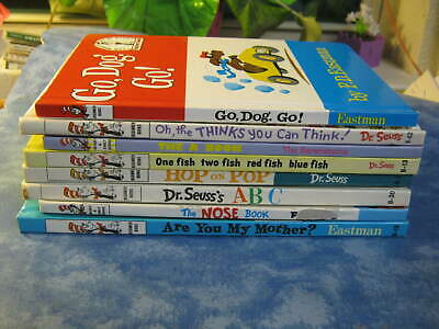 LOT OF 9 DR. SEUSS BEGINNER BOOKS HC The Nose Book OH, THE THINKS YOU CAN THINK!