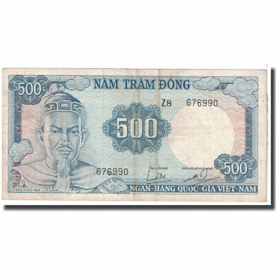 [#125227] Banknote, South Viet Nam, 500 Dong, KM:23a, VF(20-25)