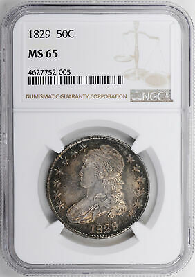 1829 Capped Bust 50C Ngc Ms 65
