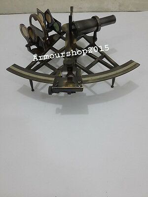 Antique Solid Brass Nautical Sextant Astrolabe Instrument Vintage Marine Gift