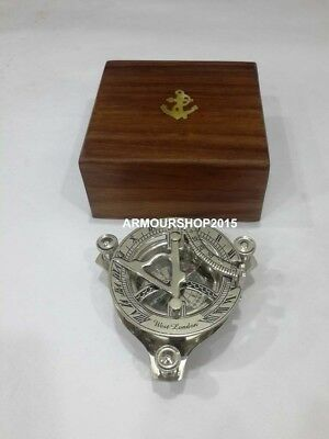 Vintage Nautical Sundial Compass Maritime With Anchor Box