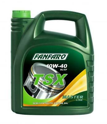 Fanfaro TSX 5 L 10W40 Semi Synthetic Engine Oil API SL/CF MB 229.1 VW 505.00