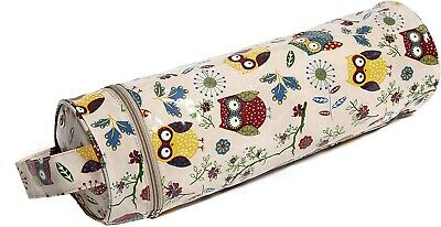 Hobbygift Knitting Needle and Yarn Case. Owl Print.