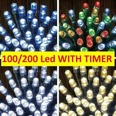 Fairy LED Lights Battery Operated String + Timer Indoor Outdoor Christmas Tree