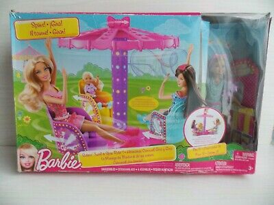 Mattel : Barbie Sisters Twirl & Spin Ride : New : Rare Discontinued Playset