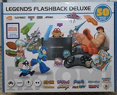 New Legends Flashback Deluxe Game Console 50 Built-In Games With 2 Gb Sd Card