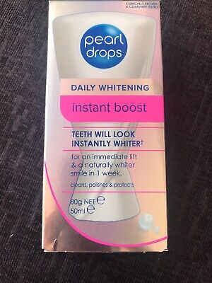 PEARL DROPS DAILY WHITENING INSTANT BOOST TOOTHPASTE NATURAL WHITE SMILE 50ml