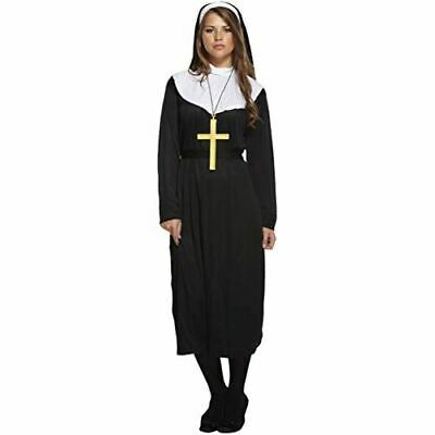 One Size Adult Men/'s Nun Stag Night Fancy Dress Costume With Cross Necklace
