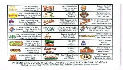 Nationwide Discount Card * 24 Restaurants * Exp. 2020 * Supports Wounded Warrior
