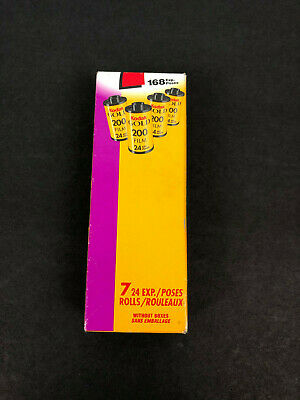 7 ROLLS OF: Kodak Gold Color Print Film 35 mm ISO 200 24 Exposures  Sealed
