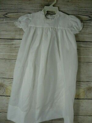 Phyllis Baby Wear Christening Baptism Dress Gown White Lace Vintage Two Piece