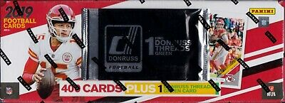 2019 Donruss Football sealed complete set 400 NFL cards & rookie threads green