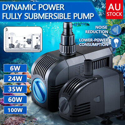 Submersible Fish Water Pump Pond Aquarium Tank Waterfall Fountain Sump AU Plug