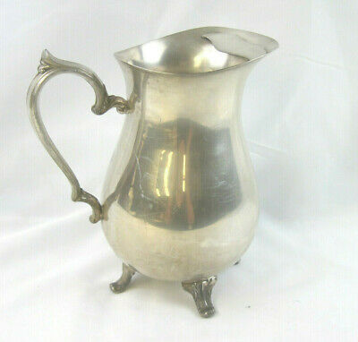 Vintage Sterling Silver Plate Footed Pitcher Ice Lip International Silver Co