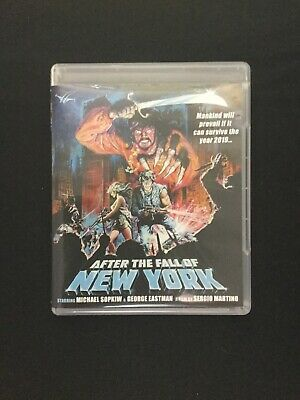 2019 After the Fall of New York Blu Ray 1983 CODE RED REGION A REVERSIBLE COVER