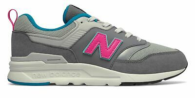 New Balance Kid's 997H Big Kids Unisex Shoes Grey with Pink