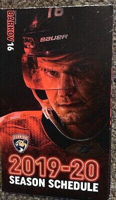 2019-2020 FLORIDA PANTHERS Hockey Schedule 🏒 COOL NHL SKED 🏒 PLAYER 🏒