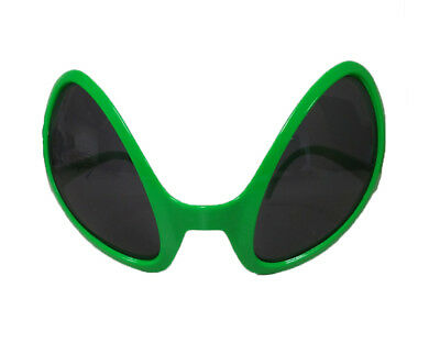 Alien Green Dark Lens Glasses Novelty Costume Accessory
