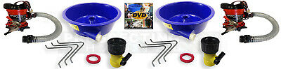 2X BLUE BOWL PAN fine GOLD recovery CONCENTRATOR + 2X PUMP + BONUS HOW TO DVD